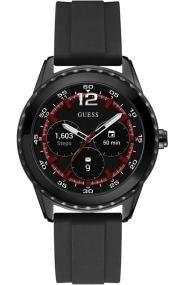 GUESS CONNECT Bluetooth Smartwatch - C1002M1, Black case with Black Rubber Strap