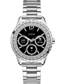 GUESS CONNECT Bluetooth Smartwatch - C1003L3, Silver case with Stainless Steel Bracelet
