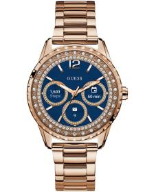 GUESS CONNECT Bluetooth Smartwatch - C1003L4, Rose Gold case with Stainless Steel Bracelet