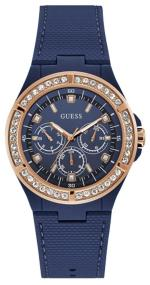 GUESS Ladies Multifunction - W1093L2, Blue case with Blue Rubber Strap