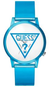 GUESS Ladies - V1018M5, Blue case with Blue Rubber Strap