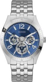 GUESS Men's Multifunction - GW0215G1 , Silver case with Stainless Steel Bracelet
