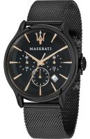 MASERATI Epoca Chronograph - R8873618006 Black case with Stainless Steel Bracelet