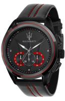 MASERATI Traguardo Chronograph - R8871612023 Black case with Black Leather Strap