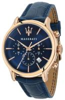 MASERATI Epoca Chronograph - R8871618007 Rose Gold case with Blue Leather Strap