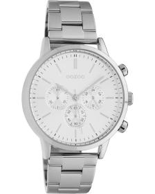 OOZOO Timepieces - C10560, Silver case with Stainless Steel Bracelet