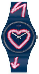 SWATCH Flash of Love - GN267 Blue case with Blue Rubber Strap