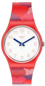 SWATCH Heart Lots - GR182 Red case with Red Rubber Strap