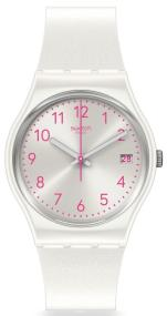 SWATCH Pearlazing - GW411 White case with White Rubber Strap