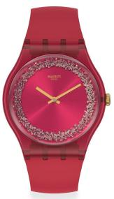 SWATCH Ruby Rings - SUOP111 Red case with Red Rubber Strap