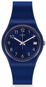 SWATCH Silver in Blue - GN416 Blue case with Blue Rubber Strap