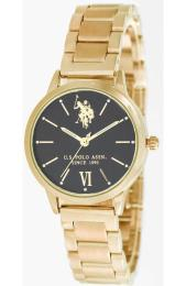 U.S. POLO Evelyn - USP5894YG , Gold case with Stainless Steel Bracelet