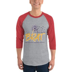 BRAT 3/4 sleeve raglan shirt