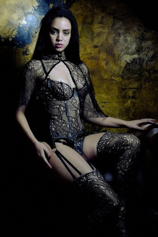 Karolina Laskowska Lingerie, photography by Jenni Hampshire - andromeda