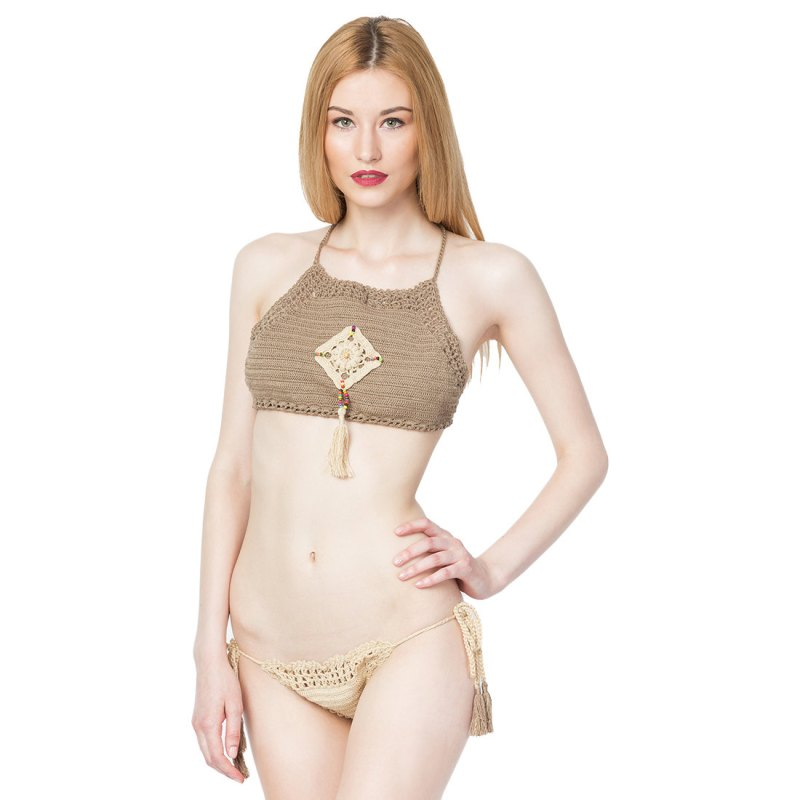 high-neck bikini