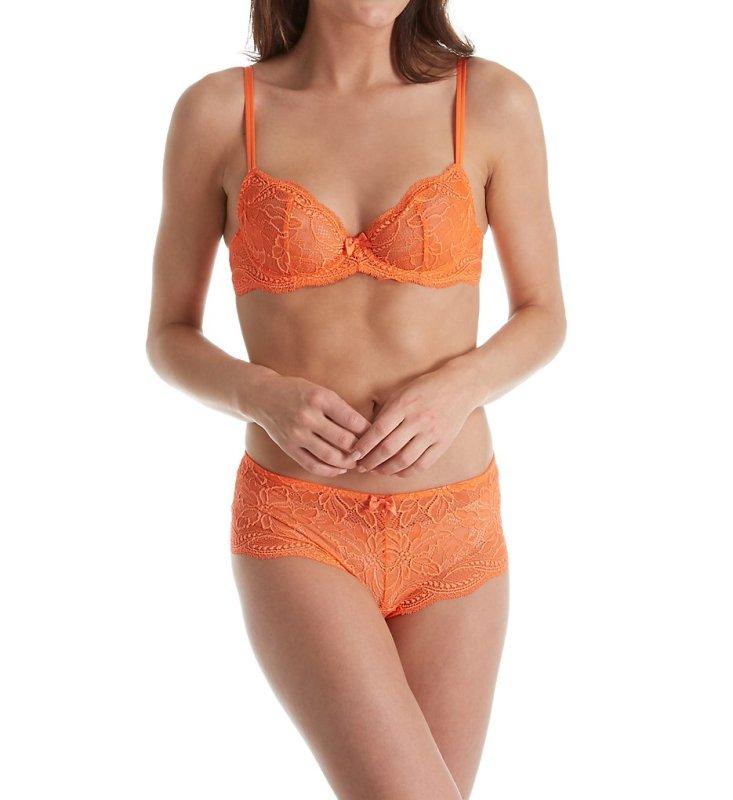orange bra sets