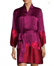 Josie Natori Isabel Silk Wrap Robe