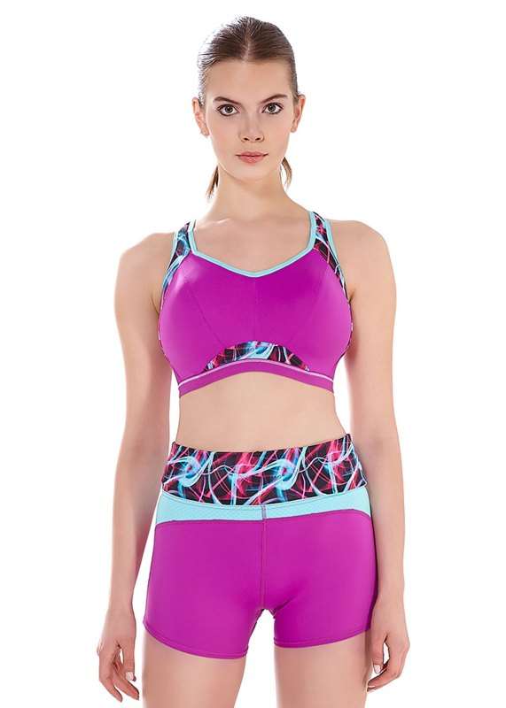eed3fae3e3 Epic Ultra Violet Moulded Crop Top Sports Bra by Freya  plus size activewear