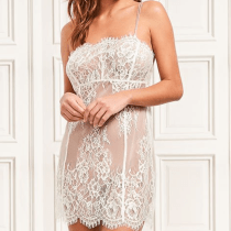 Figleaves Gigi Galloon Bridal Lace Chemise