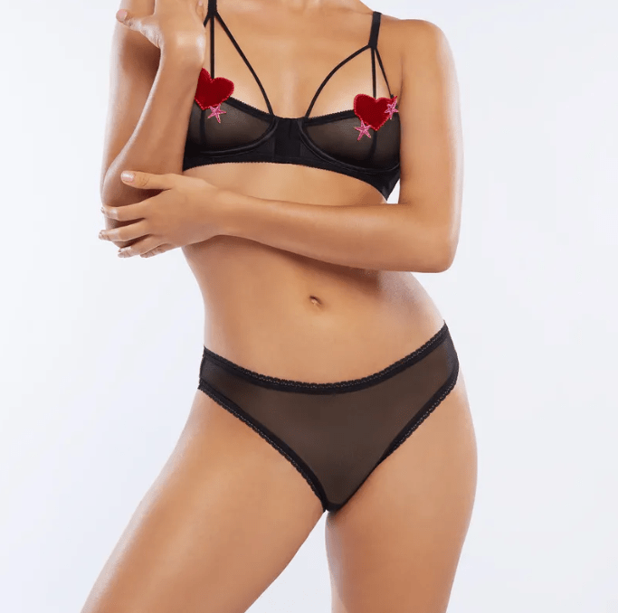 heart-themed lingerie