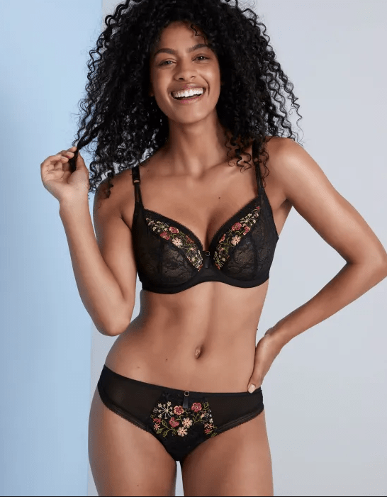 embroidered bras