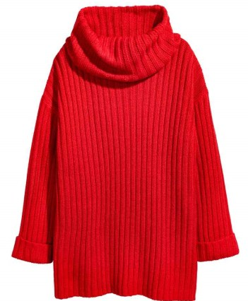 This red knit would look incredible with ripped skinnies. £24.99 down to