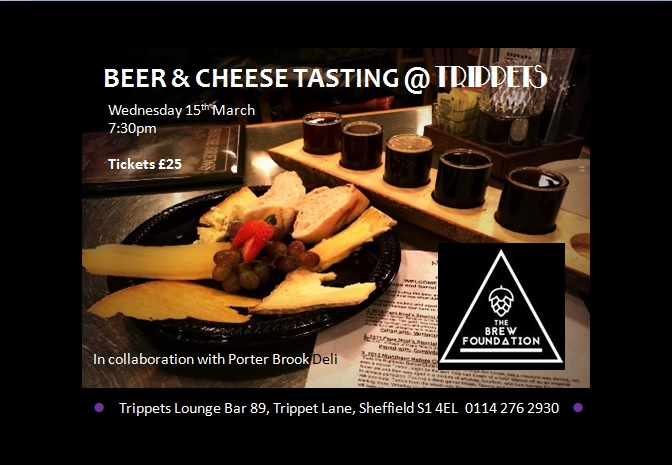 Beer and cheese tasting at Trippets