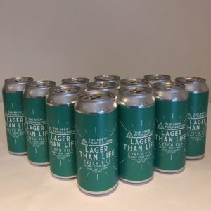 Brew Foundation Lager Than Life cans