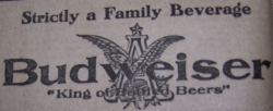 1905 Budweiser ad from the Spokesman-Review newspaper