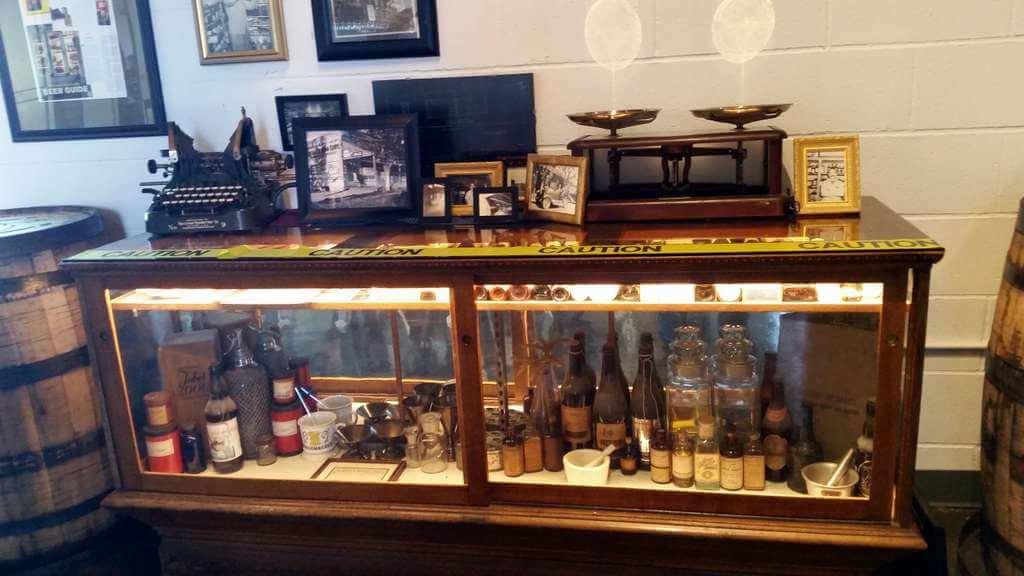 The Ale Apothecary tasting room - memorabilia