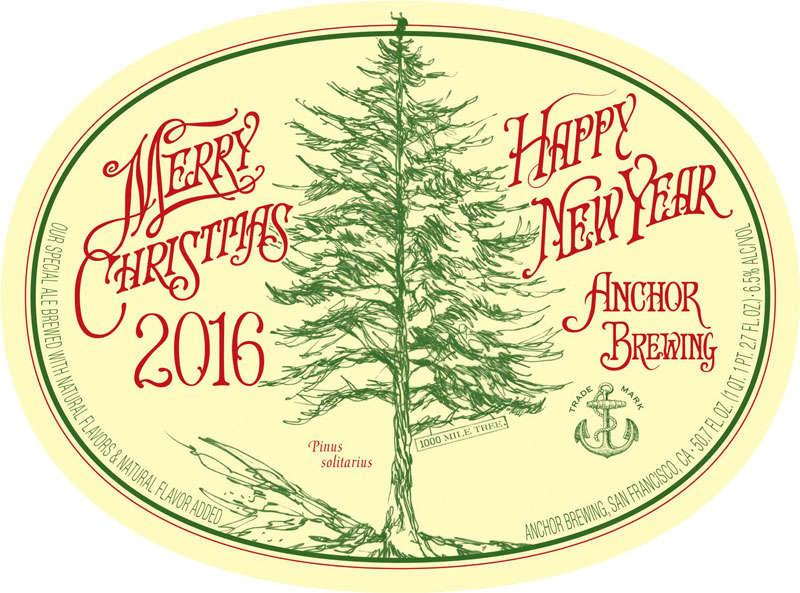 Anchor Steam Christmas Ale.Advent Beer Calendar 2016 Day 9 Anchor Christmas Ale The