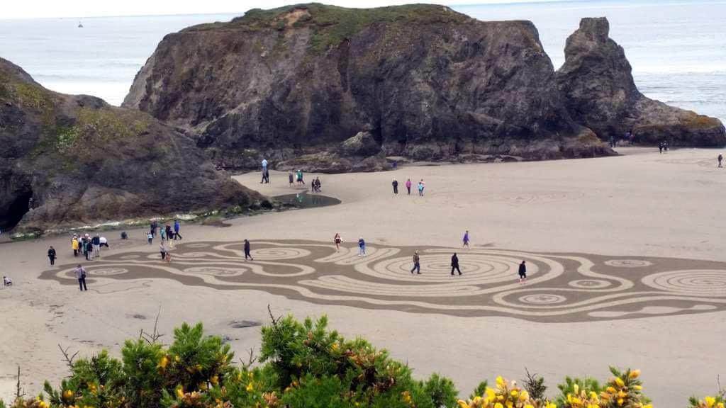 Bandon beach labyrinth