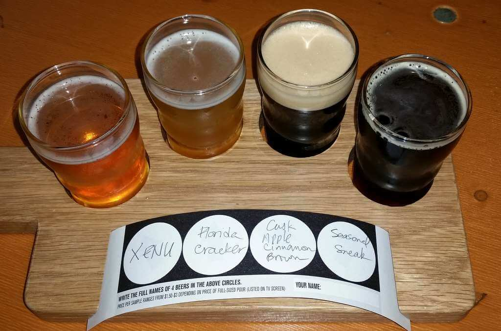Cigar City Brewing samples during Beer Bloggers Conference 2016