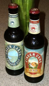 Green Lakes Organic Ale and Cinder Cone Red from Deschutes Brewery