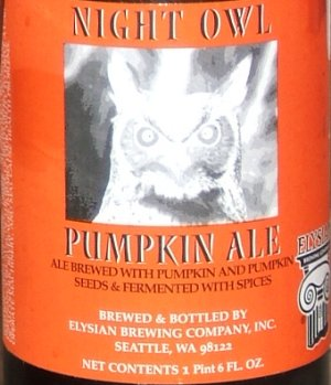 Night Owl Pumpkin Ale label