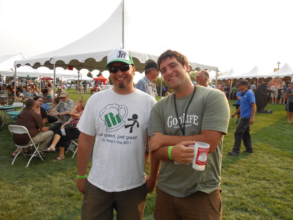 Jimmy Seifrit and Curt Plants at Bend Brewfest