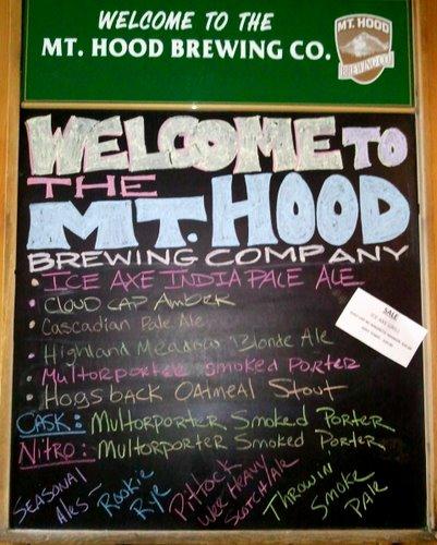 Mt. Hood Brewing beer menu