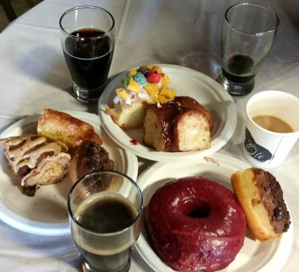 Coffee Beer and Doughnuts
