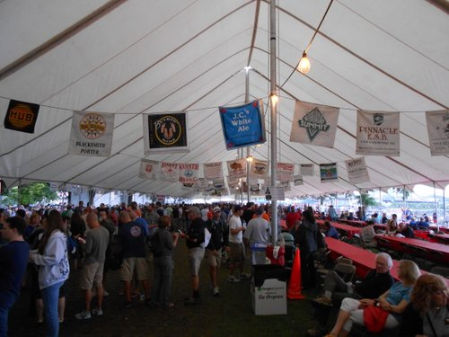 Crowded tent at the OBF