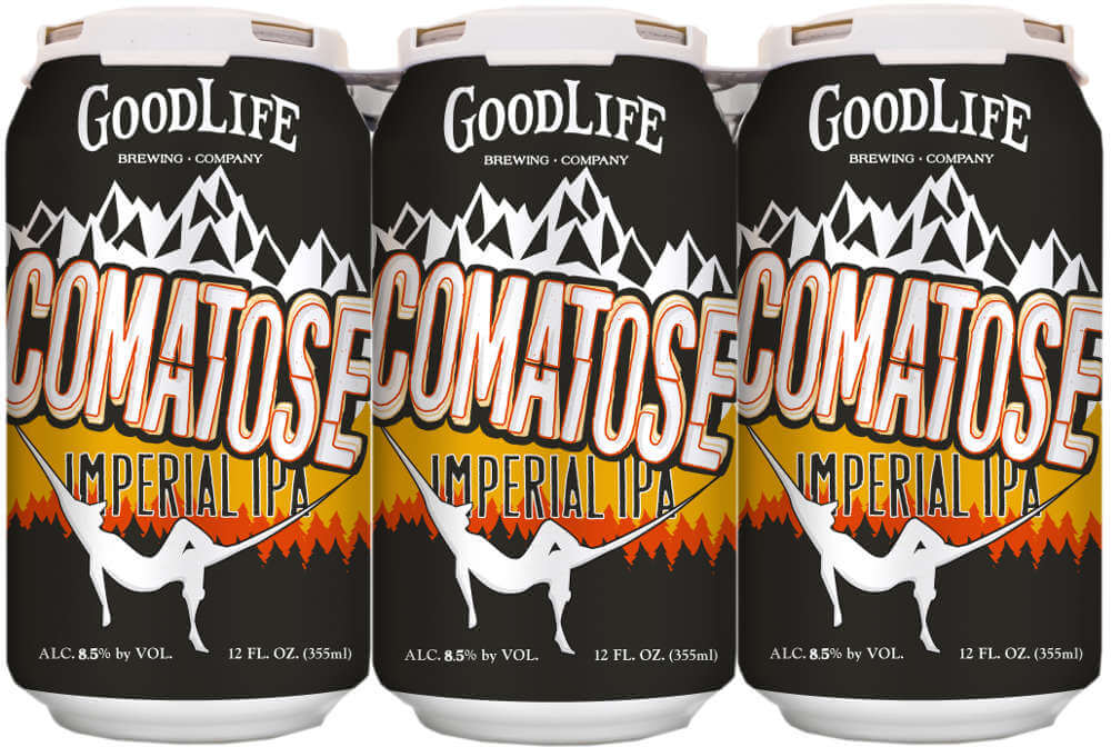 GoodLife Brewing Comatose Imperial IPA in cans