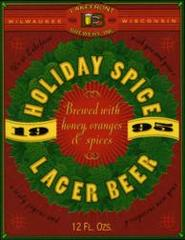 Lakefront Brewery's Holiday Spice Lager