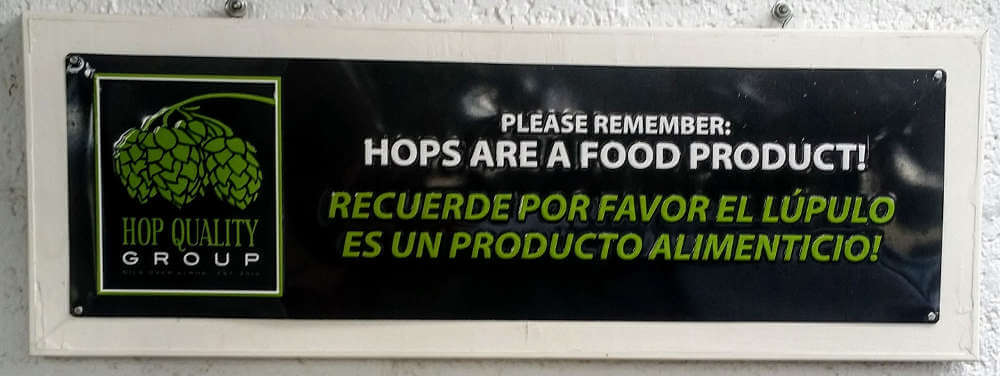 Hops are a food product!