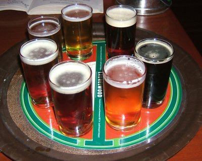 Laurelwood beer sampler