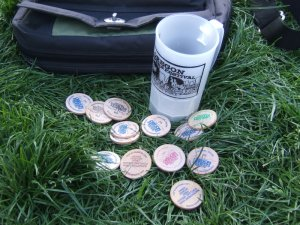 Mug and tokens
