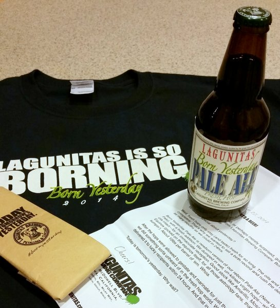 Lagunitas Born Yesterday PR package