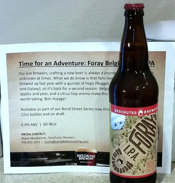 Deschutes Brewery Foray IPA