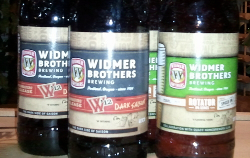 Widmer W'12 Dark Saison and Spiced IPA