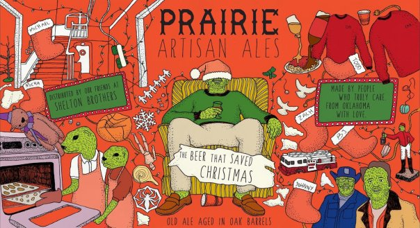 Prairie The Beer That Saved Christmas label