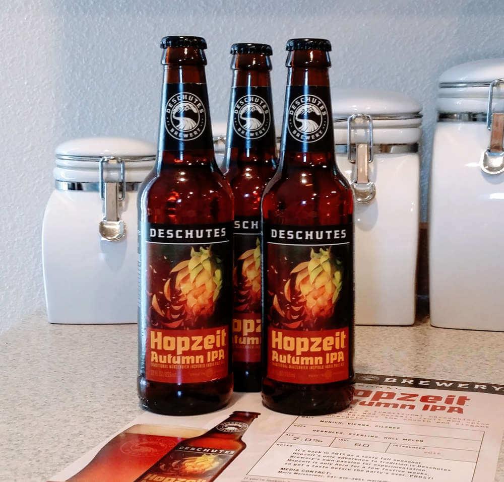Received: Deschutes Brewery Hopzeit Autumn IPA (2017)