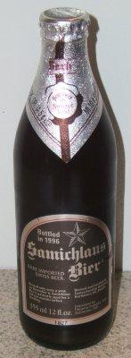 My bottle of Samichlaus - 1996 vintage